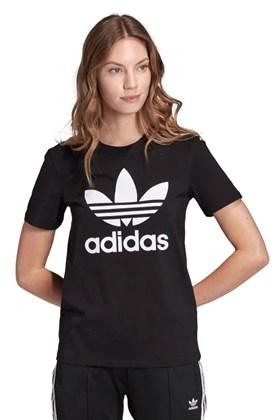 Camiseta ADIDAS Trefoil Feminina Preto/Branco Preto/Branco G