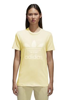 Camiseta Adidas Trefoil Feminino Amarela