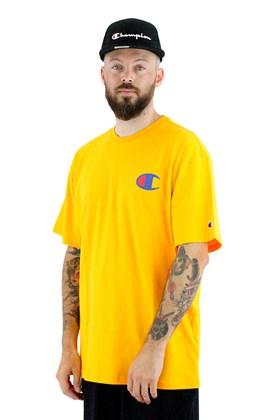 Camiseta Champion Logo C Ink Amarela