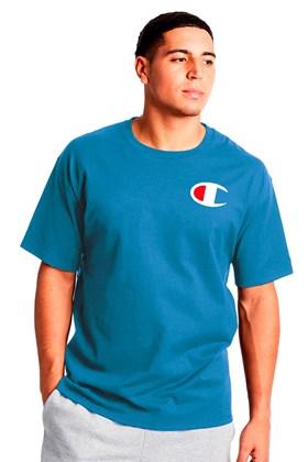 Camiseta Champion Logo C Ink Azul Medio
