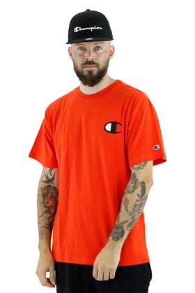 Camiseta Champion Logo C Ink Laranja