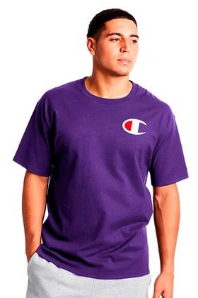 Camiseta Champion Logo C Ink Roxa