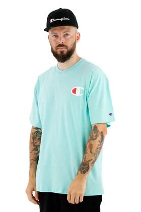 Camiseta Champion Logo C Ink Verde Menta