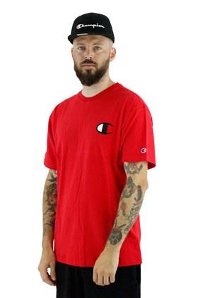 Camiseta Champion Logo C Ink Vermelha