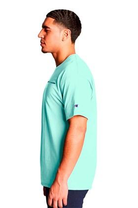 Camiseta Champion Logo Mini Script Ink Verde Menta