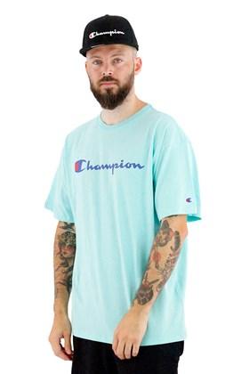 Camiseta Champion Logo Script Ink Verde Menta