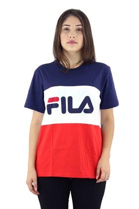 Camiseta FILA Box Alex Feminina Branca/Azul