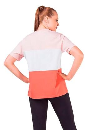 Camiseta FILA Box Alex Feminina Branca/Rosa