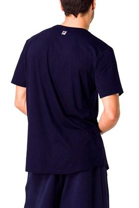 Camiseta Fila Box Stripes Azul Azul GG