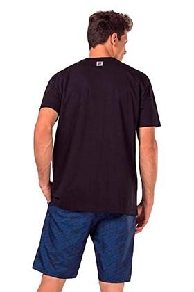 Camiseta FILA Canvas Logo Preta/Preta