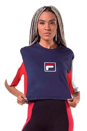 Camiseta FILA Cropped Colors Feminina Azul