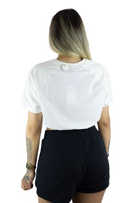 Camiseta Fila Cropped Comfort Branca/Azul