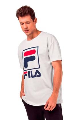Camiseta Fila Stack New Branca/Azul/Vermelha
