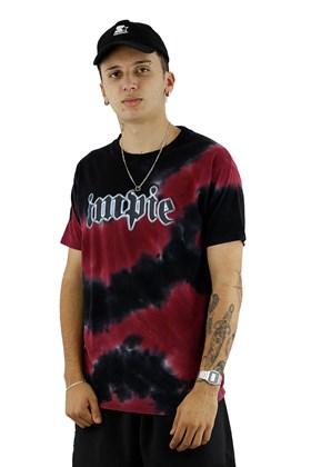 Camiseta Impie Chrome Tie Dye Preta/Vermelho