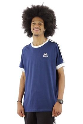 Camiseta Kappa Authentic Logo Peq  Azul Marinho