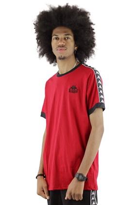 Camiseta Kappa Authentic Logo Peq Vermelha