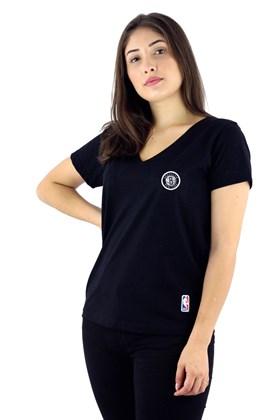 Camiseta NBA Brooklyn Nets Feminina Preta