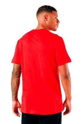 Camiseta Nike Sportswear Club Vermelho/Branco