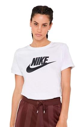 Camiseta NIKE Sportswear Essencial Feminina Branca/Preta