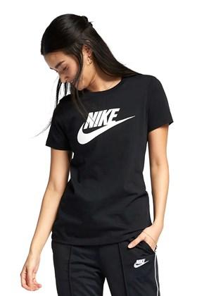 Camiseta NIKE Sportswear Essencial Feminina Preta/Branca Preto 3 P