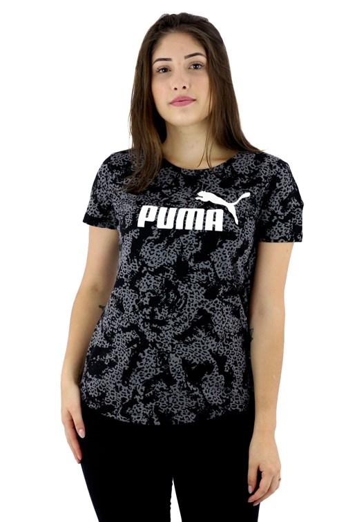 Camiseta Puma Baby Look Elevated Feminina Preta