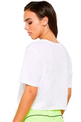 Camiseta Puma Essentials Cropped Feminina Branca