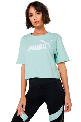 Camiseta Puma Essentials Cropped Feminina Verde