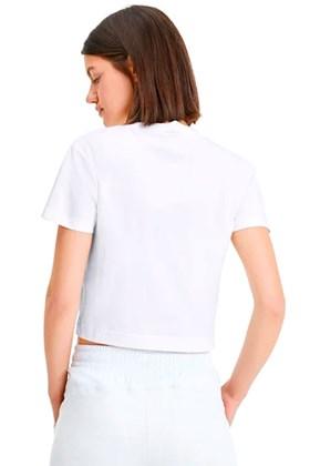 Camiseta Puma Nu-Tility Fitted Cropped Feminina Branca