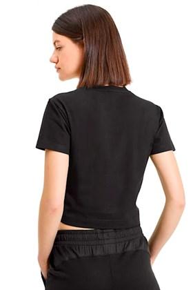 Camiseta Puma Nu-Tility Fitted Cropped Feminina Preta