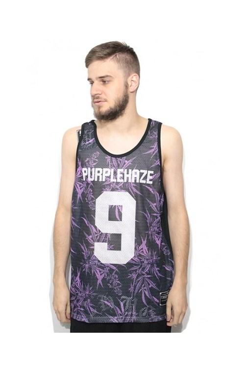 90a339cff5 Camiseta Regata Dry Fit Thug Nine Purple Haze Preto Roxo - NewSkull