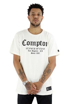 Camiseta Starter Compton Coordenadas Bege