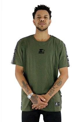 Camiseta Starter Logo Faixas Verde
