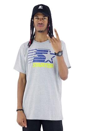 Camiseta Starter Logo Two Color Basic Cinza/Azul