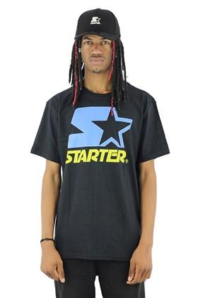 Camiseta Starter Logo Two Color Basic Preta/Azul