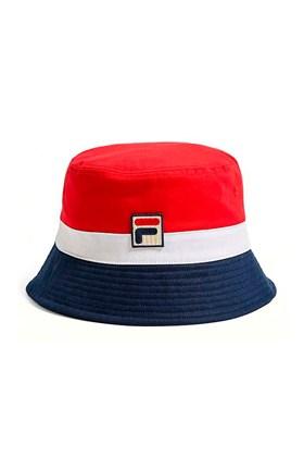 Chapeu Bucket Hat Fila Basil Vermelha/Branca/Azul