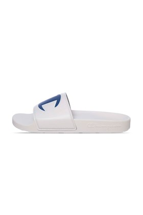 Chinelo Champion Slide IPO Branco/Azul