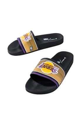 Chinelo Slide Rider Full 86 NBA Los Angeles Lakers Preto/Amarelo