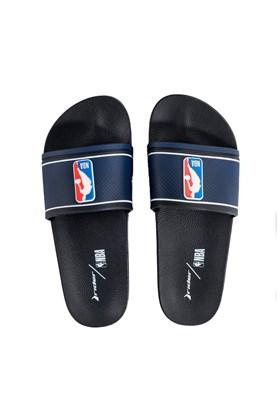 Chinelo Slide Rider Full 86 NBA Preto/Azul