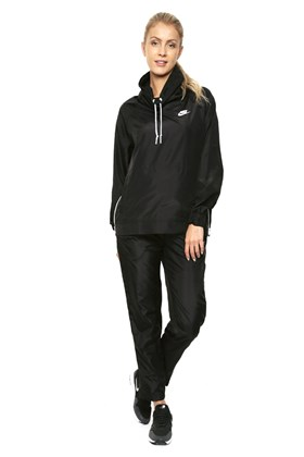 Conjunto Nike Jaqueta e Calça Trk Suit Feminino Preto