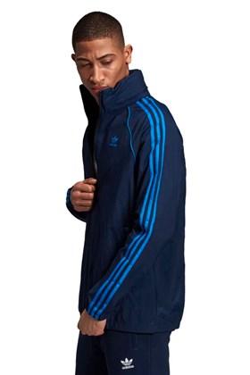 Jaqueta Adidas Corta Vento Capuz SST Retro Azul