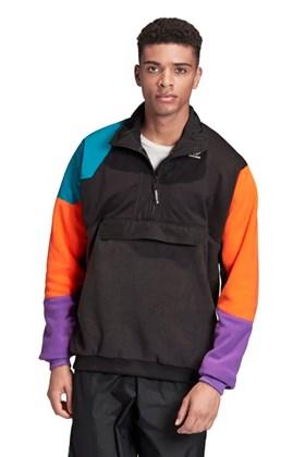 Jaqueta Adidas Fleece Pt3 Anorak Preta/Laranja