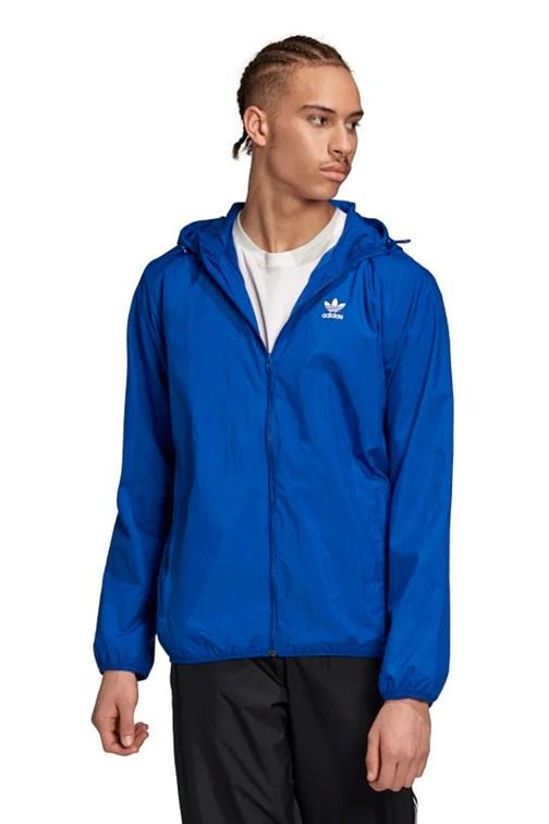 Jaqueta Adidas Quebra Vento Trefol Essentials Azul
