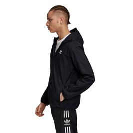 Jaqueta Adidas Quebra Vento Trefol Essentials Preta