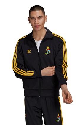 Jaqueta Adidas The Simpsons Firebird Preta/Amarela