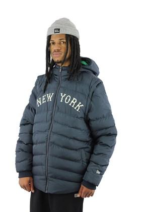 Jaqueta Colete New Era Estofada Puffer New York Yankees Mlb Azul