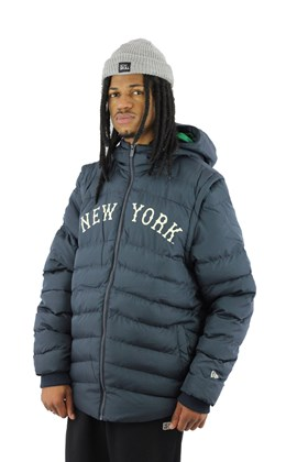 Jaqueta Colete New Era Estofada Puffer New York Yankees Mlb Azul