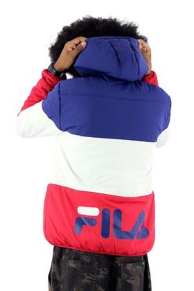 Jaqueta FILA Puff Capuz Azul/Vermelha