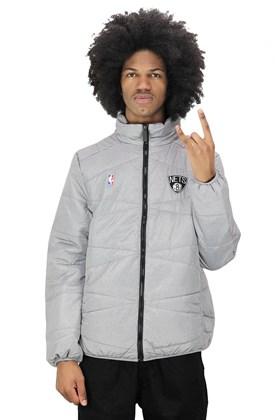 Jaqueta NBA Brooklyn Nets Estofada Cinza