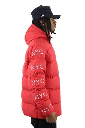 Jaqueta New Era Estofada Simple Sign NYC Vermelha