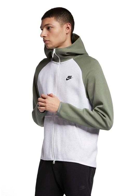Por SIDA mil  Jaqueta Nike Sportswear Tech Fleece Verde/Cinza - NewSkull